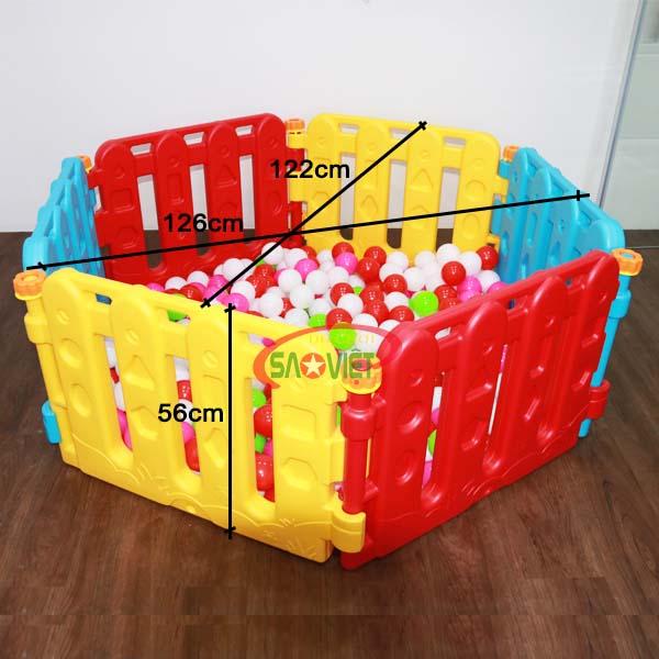 kích thước nhà banh cho bé lắp ghép đa năng S08N02