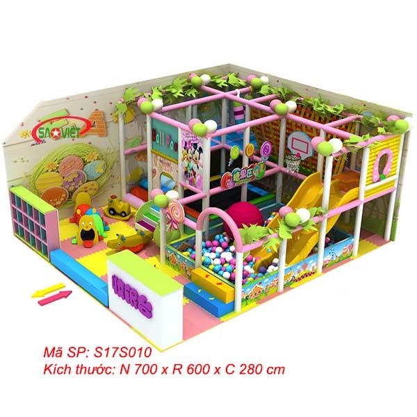 Nhà liên hoàn trẻ em mini 42m2 cho khu vui chơi nhỏ