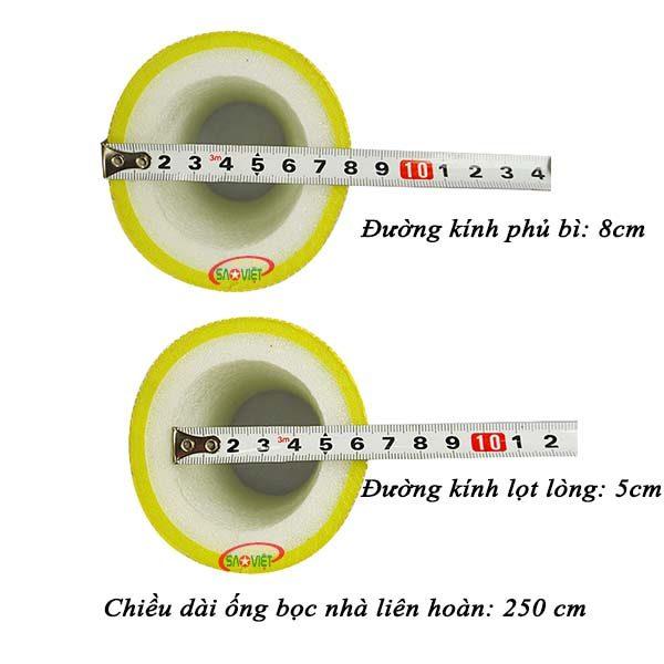 kích thước ống xốp bọc cột nhà liên hoàn NL01801