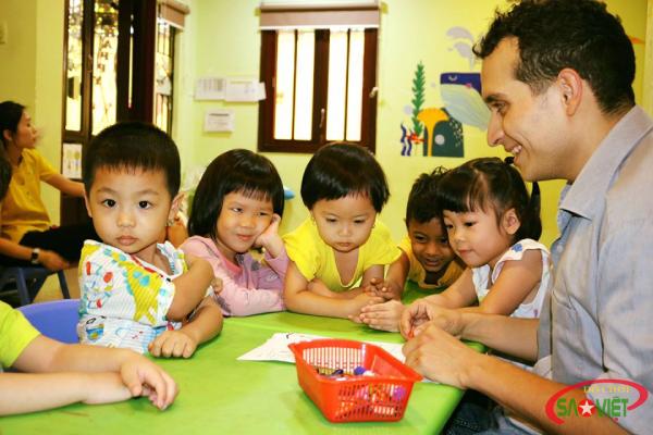 Môi trường học tại trường mầm non Iris International Preschool sạch sẽ, thoáng mát