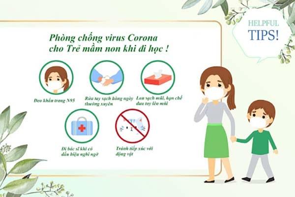trường mầm non triển khai phòng chống dịch bệnh viêm đường hô hấp cấp corona nvov