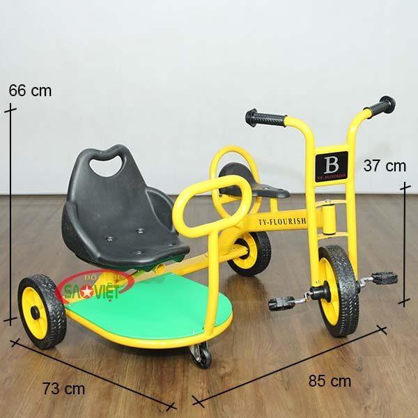 kích thước xe 3 bánh sidecar cho bé S19N52