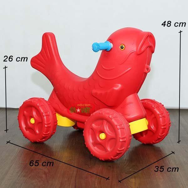 kích thước xe chòi chân con cá chép cho bé S18N29