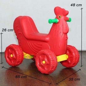 kích thước xe chòi chân con gà 4 bánh dễ thương S18N31