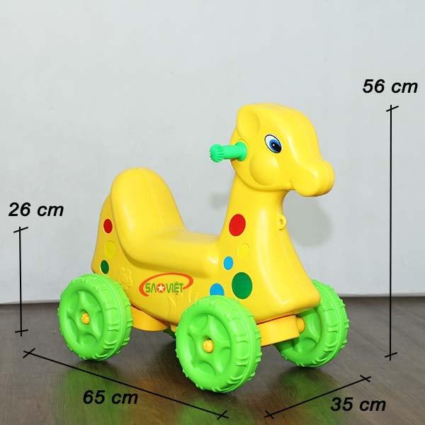 kích thước xe chòi chân con nai vàng cho bé S18N26