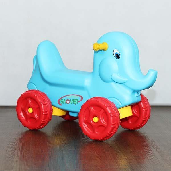 xe chòi chân con voi xanh cho bé S18N27
