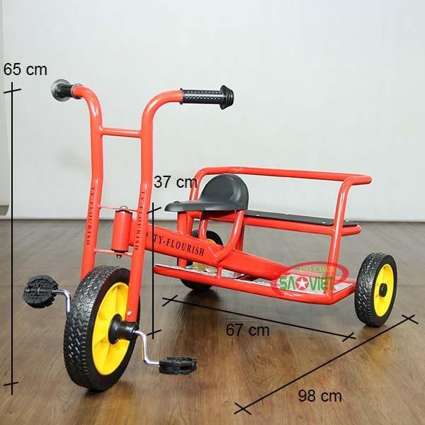 kích thước xe đạp 3 bánh cho bé mầm non S19N53